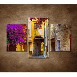 Obrazy na stenu - Ulička v Provence - 3dielny 90x60cm