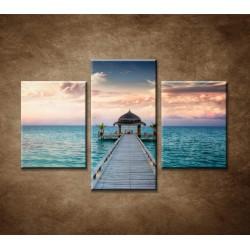Obrazy na stenu - Maledivy - 3dielny 90x60cm