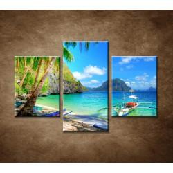 Obrazy na stenu - Slnečná zátoka - 3dielny 90x60cm