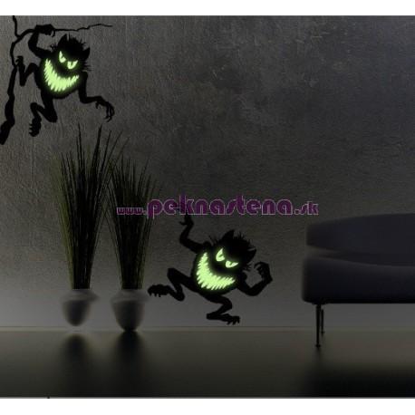 Nálepka na stenu - Svietiace strašidlá - 5 ks