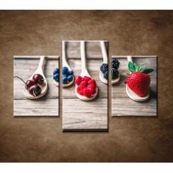 Obrazy na stenu - Ovocie na vareške - 3dielny 90x60cm
