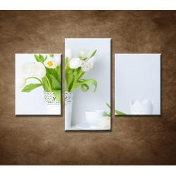 Obrazy na stenu - Čerstvé tulipány - 3dielny 90x60cm