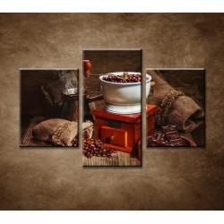 Obrazy na stenu - Mlynček na kávu - 3dielny 90x60cm