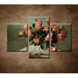 Obrazy na stenu - Ruže - 3dielny 90x60cm