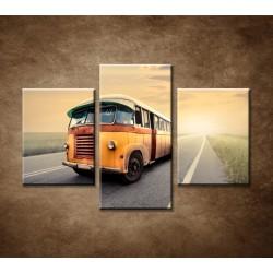 Obrazy na stenu - Starý autobus - 3dielny 90x60cm
