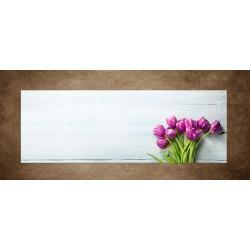Obraz - Tulipány na svetlom pozadí - panoráma