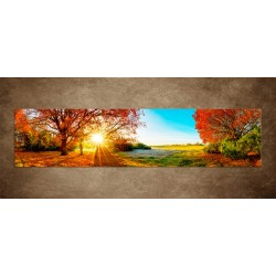 Obraz - Farebná jesenná príroda - panoráma