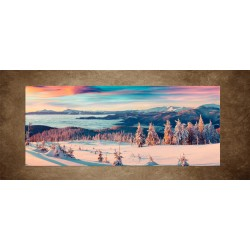 Obraz - Zimné zasnežené hory - panoráma