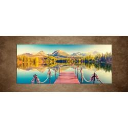 Obraz - Jazero vo Vysokých Tatrách - panoráma