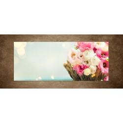 Obraz - Rozkvitnutá kytica - panoráma