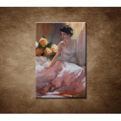 Obrazy na stenu - Olejomaľba - Žena na posteli