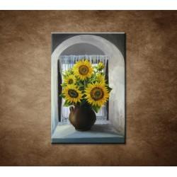 Obrazy na stenu - Olejomaľba - Kytica slnečníc