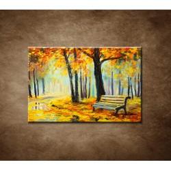 Obrazy na stenu - Olejomaľba - Pestré jesené lesy