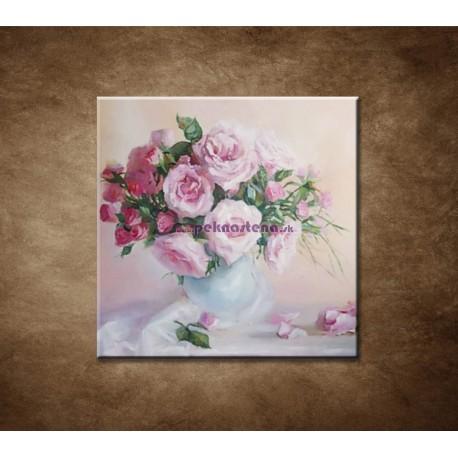 Obrazy na stenu - Olejomaľba - Maľované ruže