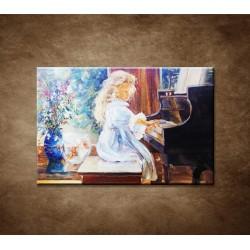 Obrazy na stenu - Maľba - Dievčatko a klavír