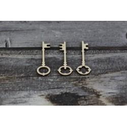 Drevený výrez - Kľúče - 3ks