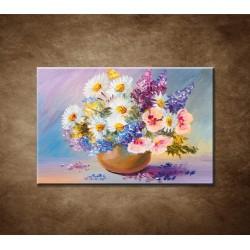 Obrazy na stenu - Olejomaľba - Letné kvety