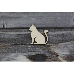 Drevený výrez - Mačka - motív2