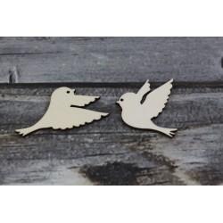 Drevený výrez - Vtáčiky 2 ks