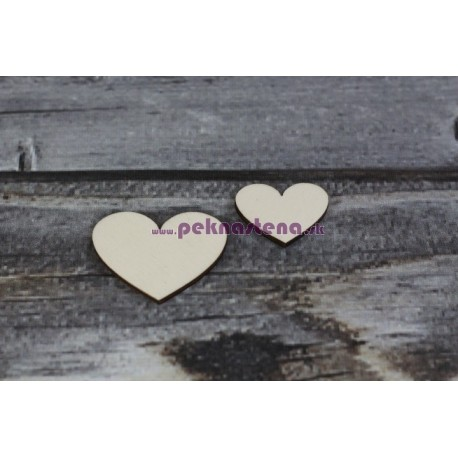 Drevený výrez - Srdce