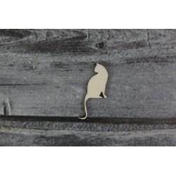 Drevený výrez - Mačka