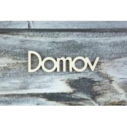 Drevený výrez - Domov - motív 2