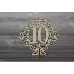 Drevený výrez - Číslo s podstavcom - NA MIERU