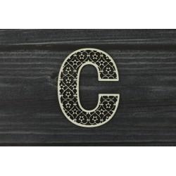 Drevený výrez - Písmeno C - motív 1