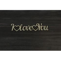Drevený výrez - I LOVE YOU - motív 1