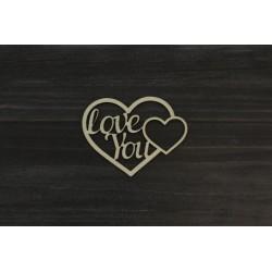 Drevený výrez - I LOVE YOU - motív 2