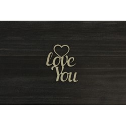 Drevený výrez - I LOVE YOU - motív 3