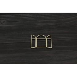 Drevený výrez - Okno - motív 2