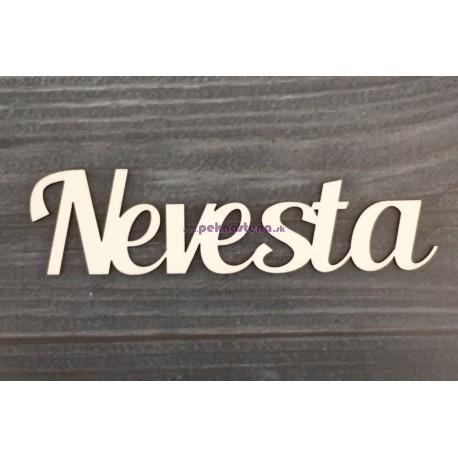 Drevený výrez - Nevesta