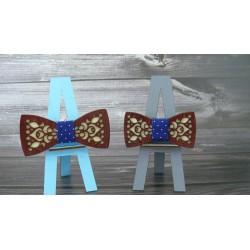 drevený motýlik - set otec a syn - motív 2