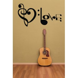 Nálepka na stenu - I Love Music