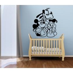 Nálepka na stenu - Mickey a kamaráti