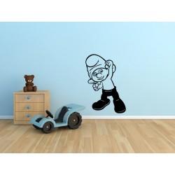 Nálepka na stenu - Šmolko