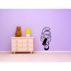Nálepka na stenu - Šmolinka