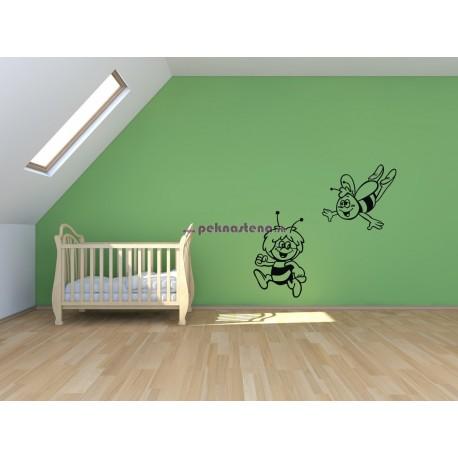 Nálepka na stenu - Včielka Majka a Vilko