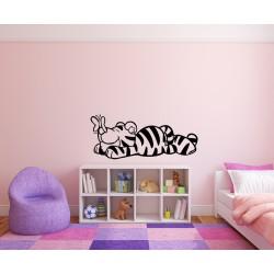Nálepka na stenu - Tiger a motýľ