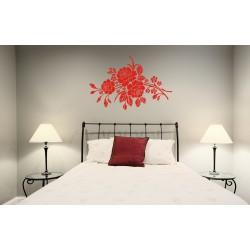 Nálepka na stenu - Ornament s ružami