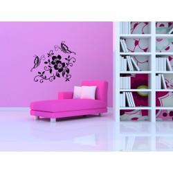 Nálepka na stenu - Motýli ornament 5