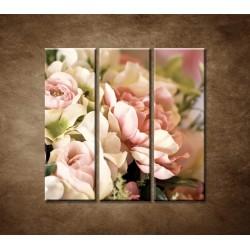 Obrazy na stenu - Jemná kytica - 3dielny 90x90cm