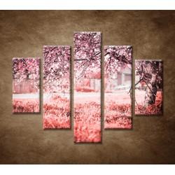 Obrazy na stenu - Rozkvitnutá čerešňa - 5dielny 100x80cm