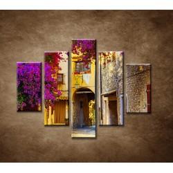 Obrazy na stenu - Ulička v Provence - 5dielny 100x80cm