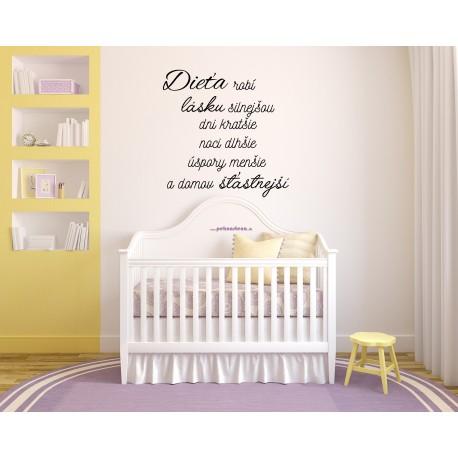 Nálepky na stenu - Dieťa robí lásku silnejšiou
