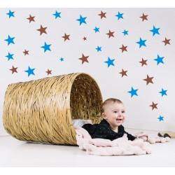 Nálepka na stenu - Hviezdičky - dvojfarebné - set 140 kusov