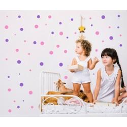 Nálepka na stenu - Gulôčky - dvojfarebné - set 180 kusov