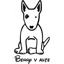 Nálepka na auto - Bull-terrier