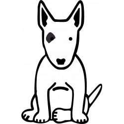 Nálepka na auto - Bull-terrier - výška 10cm